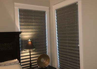 Pleated Blackout Shades
